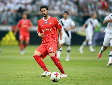 JUNE 04, 2017: Extra League Polish Premier League Legia Warsaw - Lechia Gdansko  p: Steven Vitoria of Lechia Gdansk Editorial