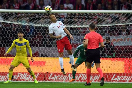 4 SEPTEMBER, 2017 - WARSAW, POLAND: Football World Cup qualification match Poland - Kazakhstano  p Kamil Grosicki (Poland)