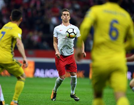 midfielder: 4 SEPTEMBER, 2017 - WARSAW, POLAND: Football World Cup Rusia 2018 qualification match Poland - Kazakhstano  p Arkadiusz Milik (Poland)