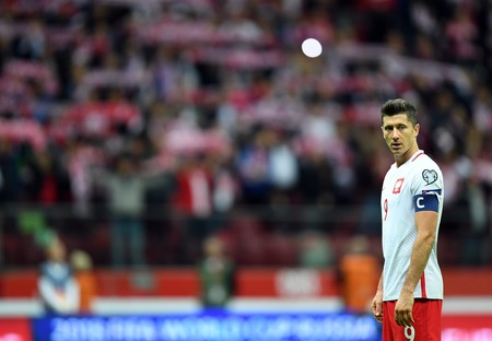 midfielder: 4 SEPTEMBER, 2017 - WARSAW, POLAND: Football World Cup Russia qualification match Poland - Kazakhstano  p Robert Lewandowski (Poland) Editorial