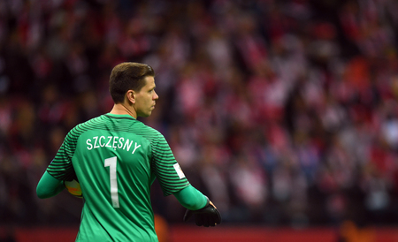 8 OCTOBER, 2017 - WARSAW, POLAND: Football World Cup RUSIA 2018 qualification match Poland - Montenegro  p Wojciech Szczesny (Poland)