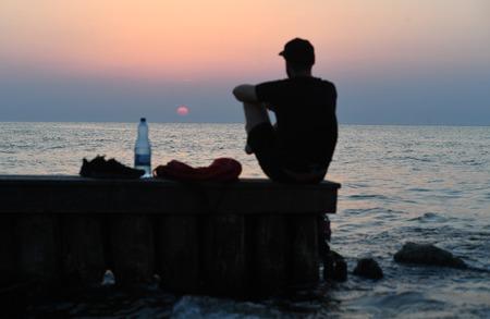 12 JULY 2018 - OSTROW, POLAND: Polish Baltic sea during summer Editorial