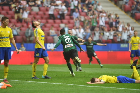 WARSAW, POLAND - MAY 02, 2018: Polish League Cup Final Arka Gdynia vs Legia Warsaw  p: Carlos Dias (Legia Warsaw) Editorial
