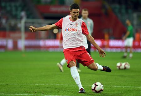 WROCLAW, POLAND - SEPTEMBER 11, 2018: International friendly game between Poland and Republic of Ireland op: Marcin Kaminski (Poland)