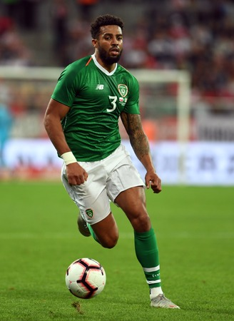 WROCLAW, POLAND - SEPTEMBER 11, 2018: International friendly game between Poland and Republic of Ireland op: Cyrus Christie (Republic of Ireland) Editorial