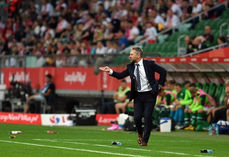 WROCLAW, POLAND - SEPTEMBER 11, 2018: International friendly game between Poland and Republic of Ireland op: Jerzy Brzeczek Coach (Poland) Editorial