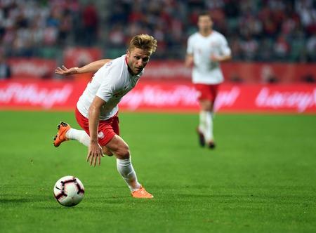 WROCLAW, POLAND - SEPTEMBER 11, 2018: International friendly game between Poland and Republic of Ireland op: Jakub Blaszczykowski (Poland)