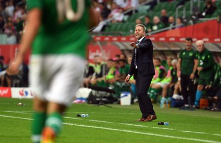 WROCLAW, POLAND - SEPTEMBER 11, 2018: International friendly game between Poland and Republic of Ireland / p: Jerzy Brzeczek Coach (Poland)