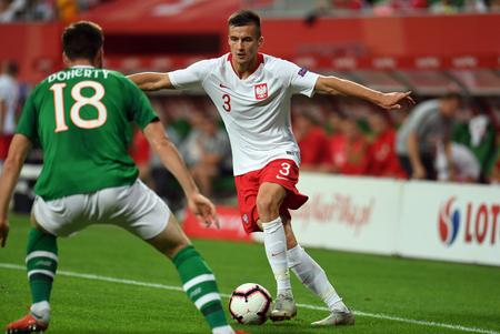 WROCLAW, POLAND - SEPTEMBER 11, 2018: International friendly game between Poland and Republic of Ireland  p: Arkadiusz Reca (Poland)