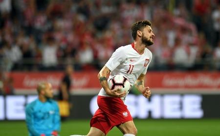 WROCLAW, POLAND - SEPTEMBER 11, 2018: International friendly game between Poland and Republic of Ireland / p: Mateusz Klich (Poland) Stock Photo - 115120337