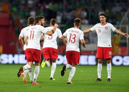 WROCLAW, POLAND - SEPTEMBER 11, 2018: International friendly game between Poland and Republic of Ireland  p: Mateusz Klich (Poland)