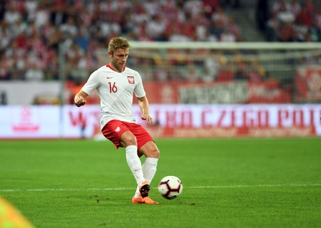 WROCLAW, POLAND - SEPTEMBER 11, 2018: International friendly game between Poland and Republic of Ireland / p: Jakub Blaszczykowski (Poland) Stock Photo - 115120359