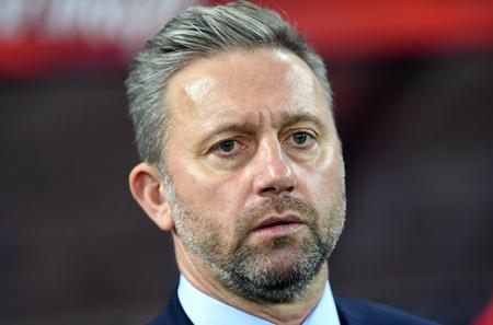 CHORZOW, POLAND - OCTOBER 14, 2018: UEFA Nations League Poland and Italy  p: Jerzy Brzeczek Coach (Poland) Editorial