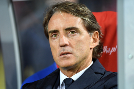 CHORZOW, POLAND - OCTOBER 14, 2018: UEFA Nations League Poland and Italy  p: Roberto Mancini coach (Italy)