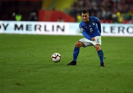 CHORZOW, POLAND - OCTOBER 14, 2018: UEFA Nations League Poland and Italyo  p: Marco Veratti (Italy)