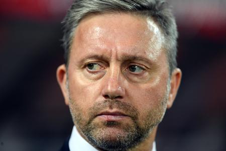 CHORZOW, POLAND - OCTOBER 11, 2018: UEFA Nations League Poland and Portugal / p: Jerzy Brzeczek Coach (Poland) Stock Photo - 115120654