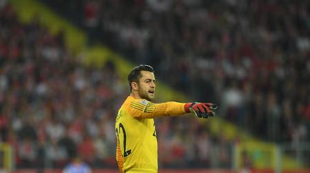 CHORZOW, POLAND - OCTOBER 11, 2018: UEFA Nations League Poland and Portugal  p: Lukasz Fabianski (Poland)