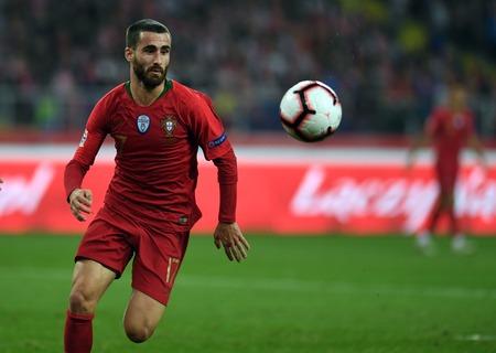 CHORZOW, POLAND - OCTOBER 11, 2018: UEFA Nations League Poland and Portugal  p: Rafa Silva (Portugal) Editorial