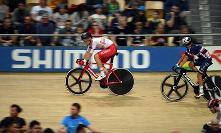 PRUSZKOW, POLAND - MARCH 03, 2019: UCI track cycling world championships by TISSOT