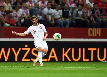 Warsaw, Poland, September 9, 2019: EURO 2020 qualifing round, group stage, Poland draws 0: 0 with Austrial on PGE Narodowy.Bartosz Bereszynski (Poland)