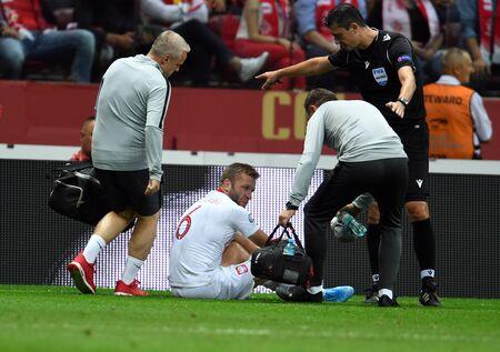 Warsaw, Poland, September 9, 2019: EURO 2020 qualifing round, group stage, Poland draws 0: 0 with Austrial on PGE Narodowy. Jakub Blaszczykowski (Poland) Редакционное