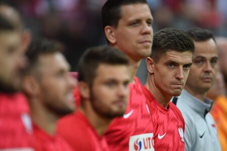 Warsaw, Poland, September 9, 2019: EURO 2020 qualifing round, group stage, Poland draws 0: 0 with Austrial on PGE Narodowy.