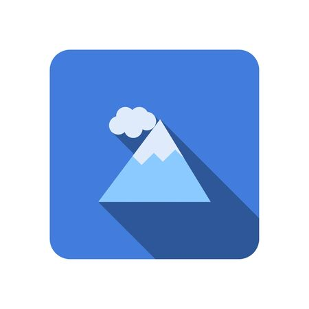 Mountain tourist flat icon with long shadow vector Ilustração