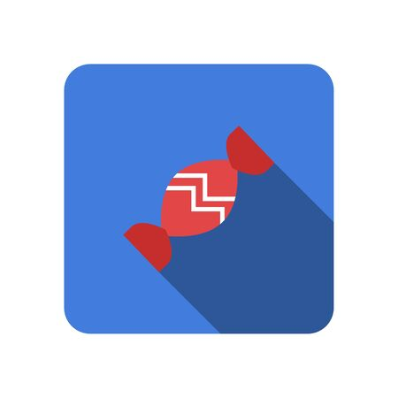 Candy flat icon with long shadow vector