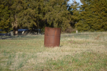 Burn Barrel in Rural Virginia