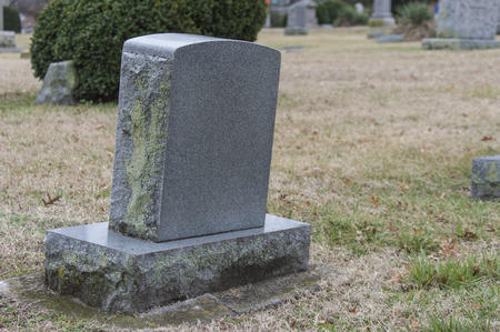 Blank grave marker 2 Stockfoto