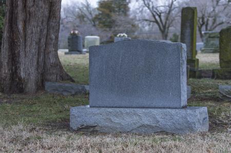 Blank grave marker 1