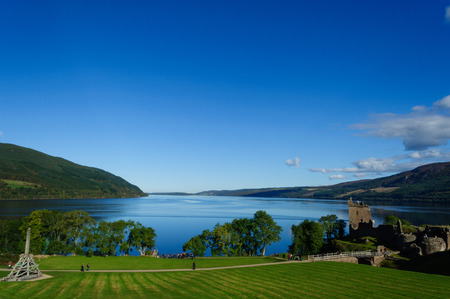 Loch Ness and Urquhart Castle in the Summer