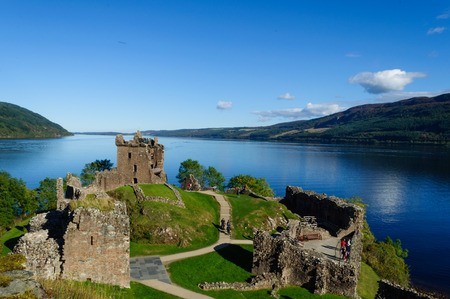 Urquhart Castle at Loch Ness in the Summer