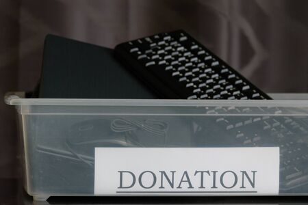 Responsible business: an office donation box for used computer equipment