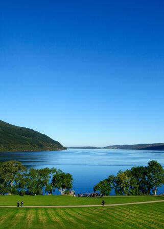 Loch Ness, a popular tourist attraction in Scotland best known for the mystery sightings of the Loch Ness Monster ' Nessie'