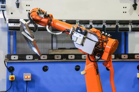 bending: bending robot ahead Stock Photo