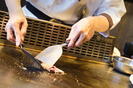 deliberately: japanese teppanyaki plate chef