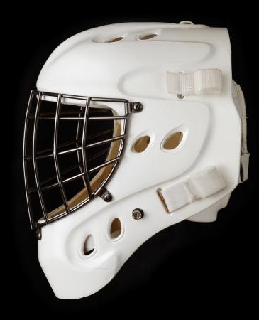 Ice hockey goalie mask photo