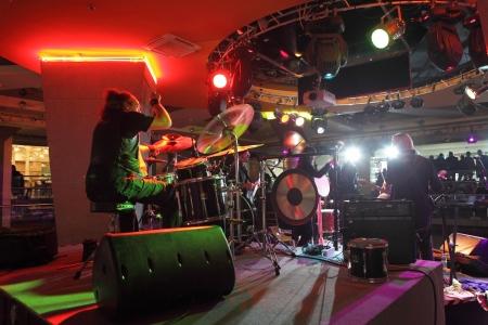 ethno: MOSCOW, RUSSIA - DECEMBER 15: Rada & Ternovnik russian rock band plays concert in Gorbushkin Dvor concert hall on December 15, 2012 in Moscow.