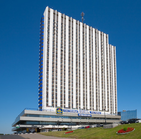 hotel building: MOSCOW - JULY 14: Building Vega in the tourist hotel complex Izmailovo on July 14, 2014 in Moscow. Editorial