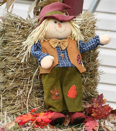 Straw Doll Boy Stock Photo