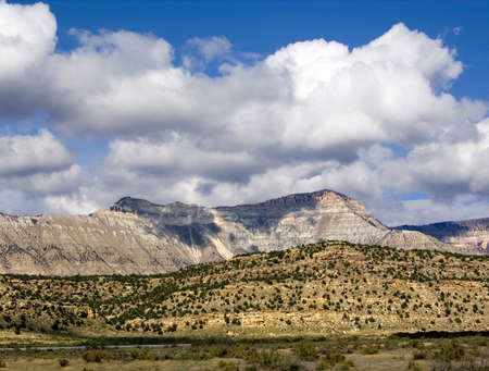 natural formation: An imposing natural formation with steep-sided peaks, Battlement Mesa, Colorado