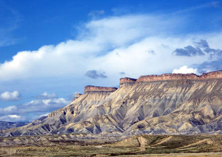 Colorful Mt. Garfield and the Bookcliffs in Western Colorado