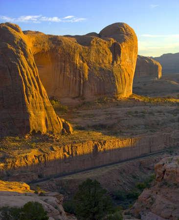 Massive sentinels of stone dominate this landscape in Utah Reklamní fotografie