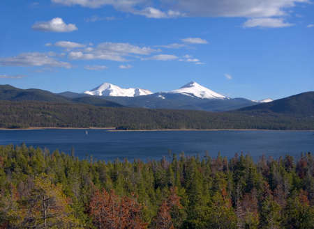 Snow capped Colorado Rockies Reklamní fotografie
