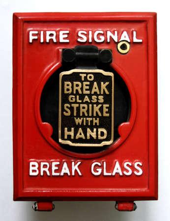 Vintage fire alarm panic button Reklamní fotografie