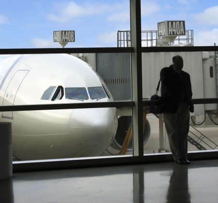 concourse: Business travel is plagued by delays and uncertainty Stock Photo