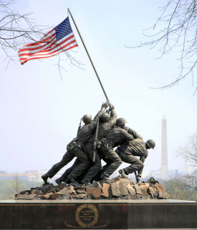 Iwo Jima Memorial in Arlington is gewijd aan de US Marines Redactioneel