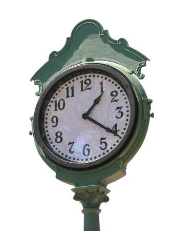 Old time clock isolated on white background Reklamní fotografie