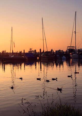 Sunset on the shore of Lake Michigan at Leland, Michigan Reklamní fotografie